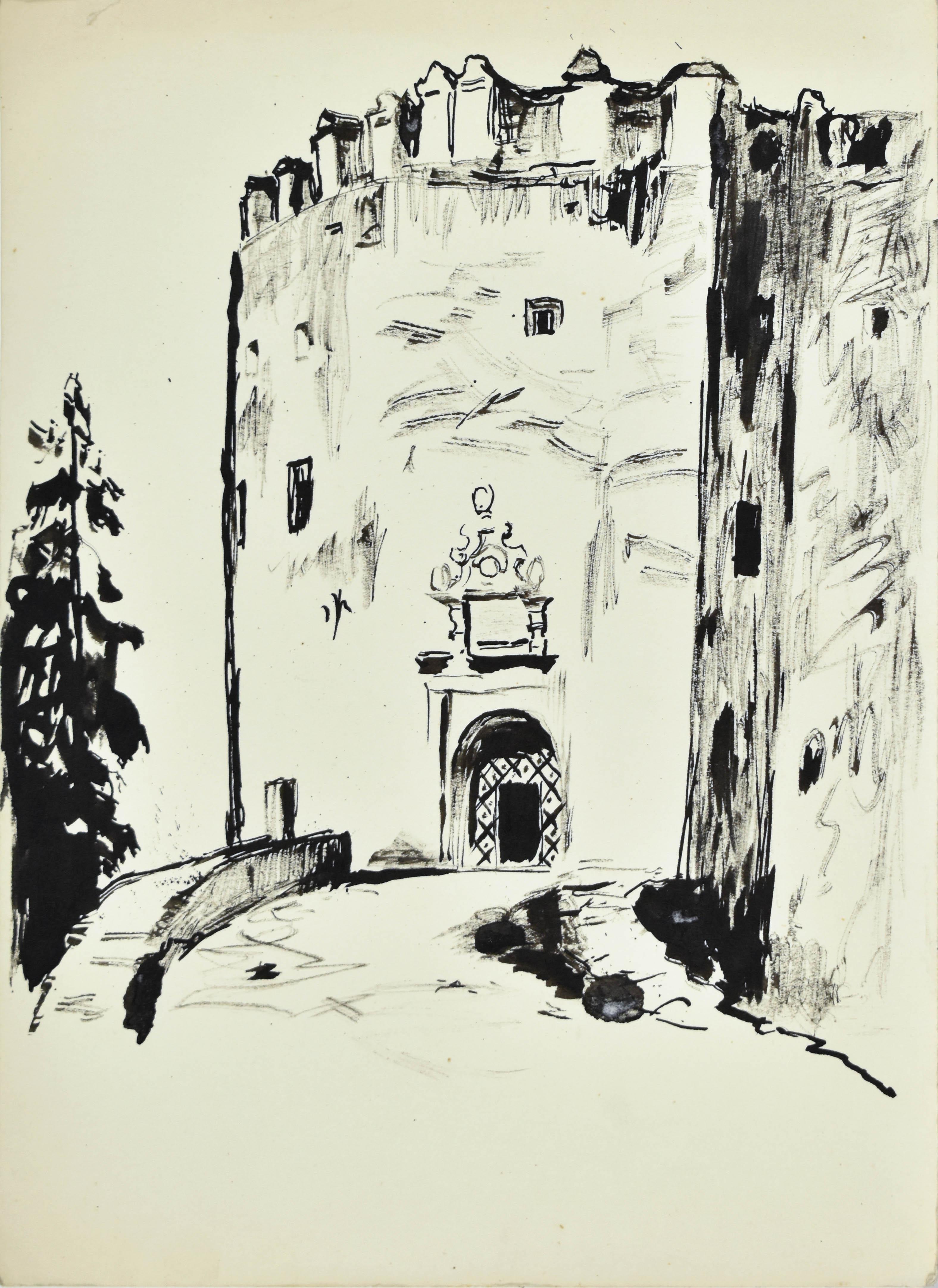 Wejście do zamku w Niedzicy