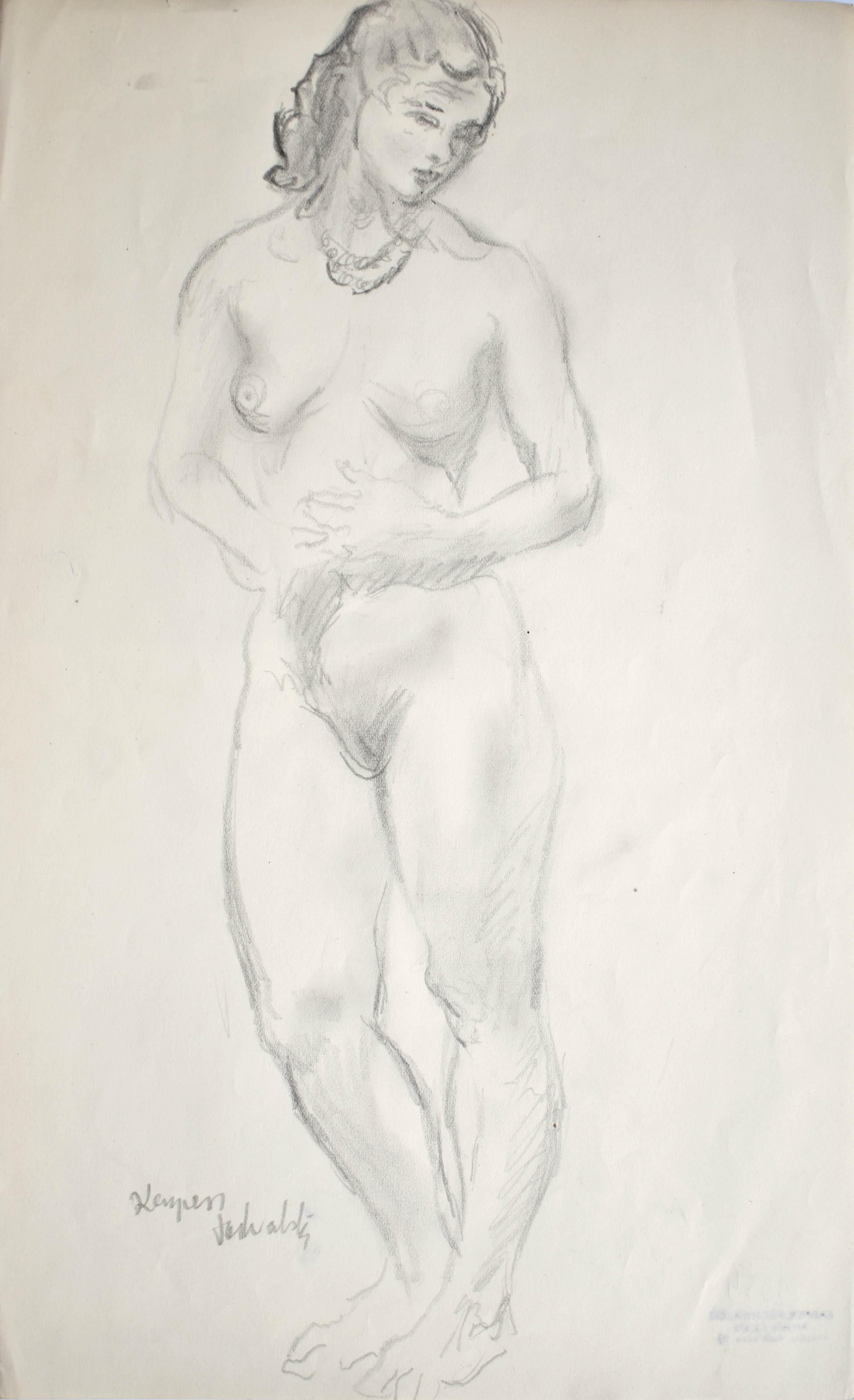 Akt stojącej kobiety