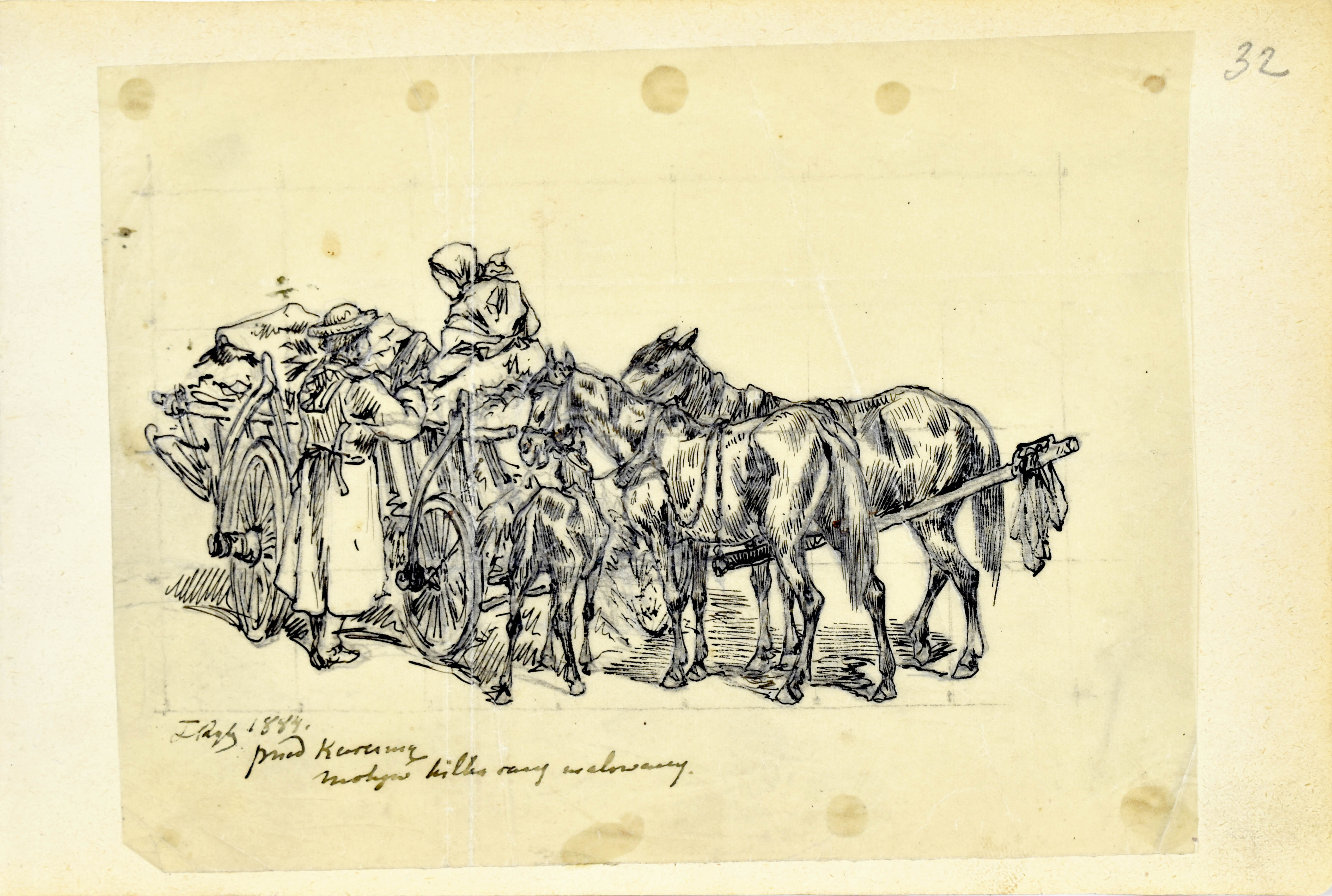 Przed karczmą, 1884
