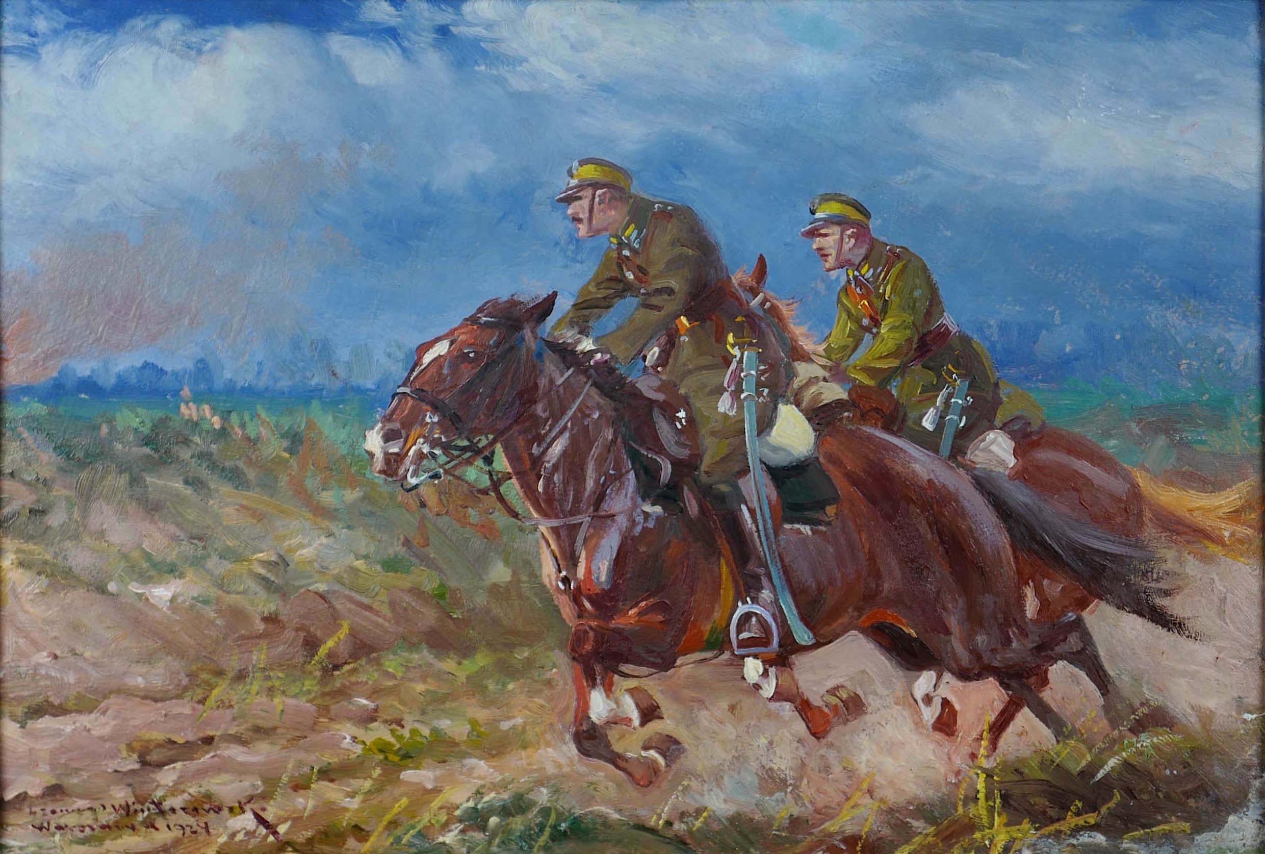 Na ratunek - ułani w galopie, 1924.