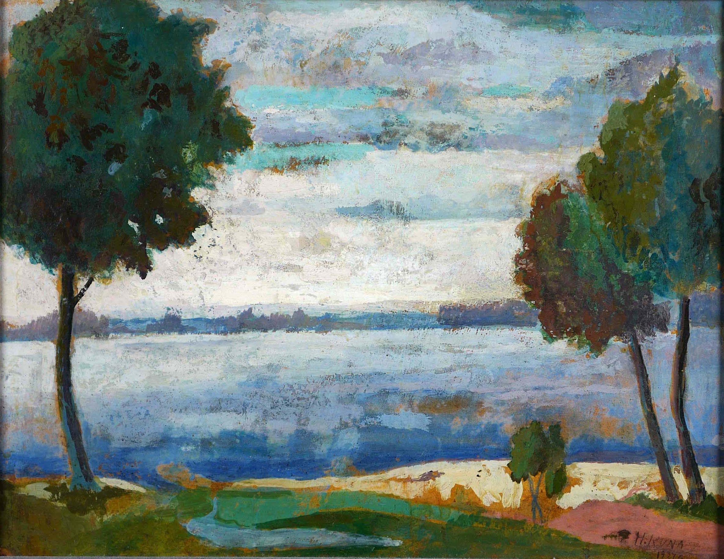 Pejzaż, idylliczny 1927 r.