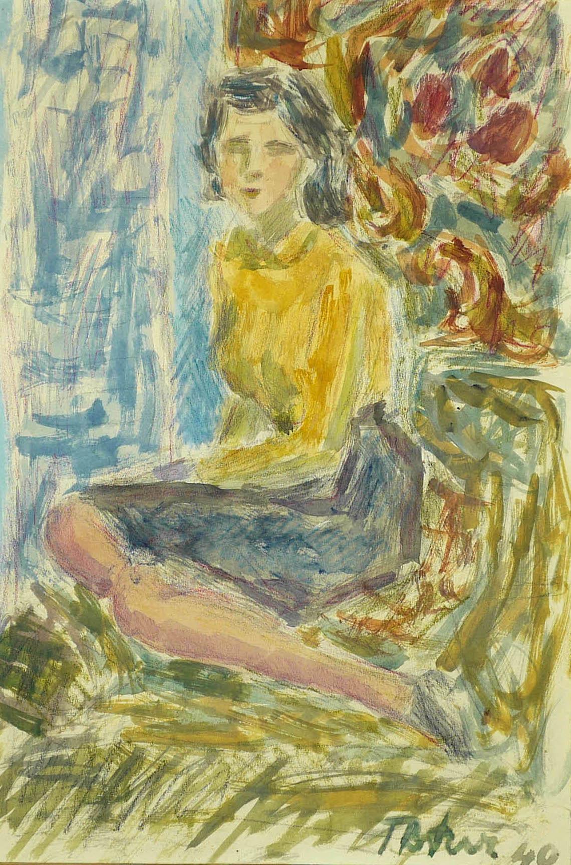 Portret Stanisławy de Cognovici, 1940 r.