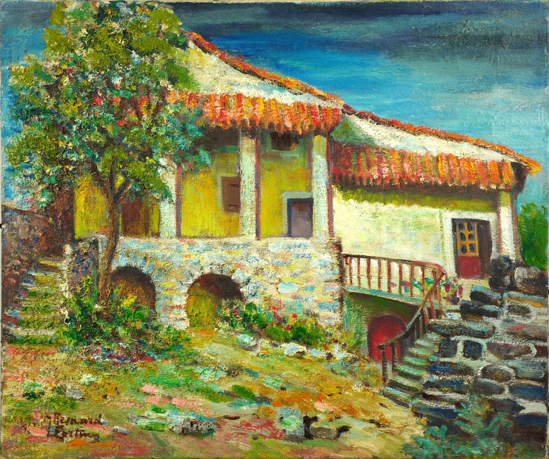 Ukwieciony dom, ok 1935 r.