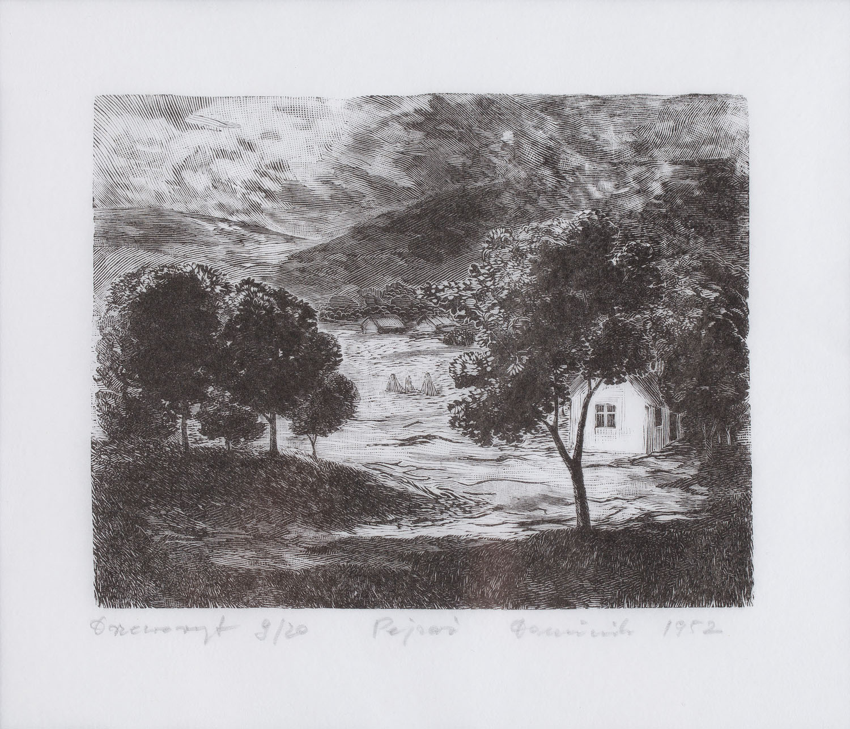 """""""Pejzaż"""", 1952"""