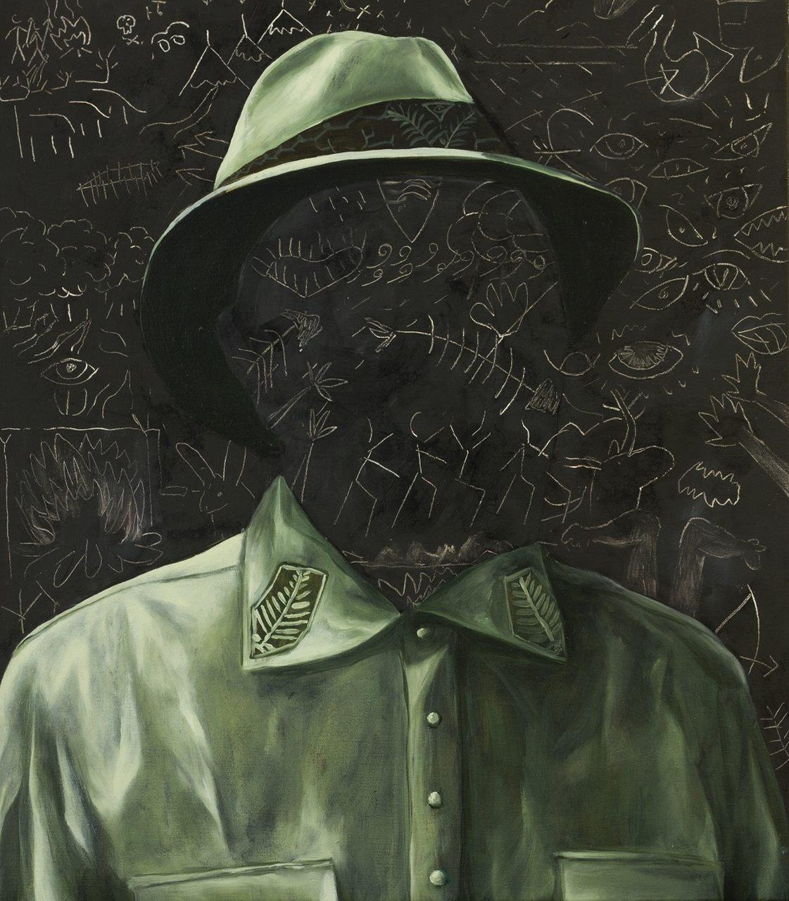 Portret zielony, 2017