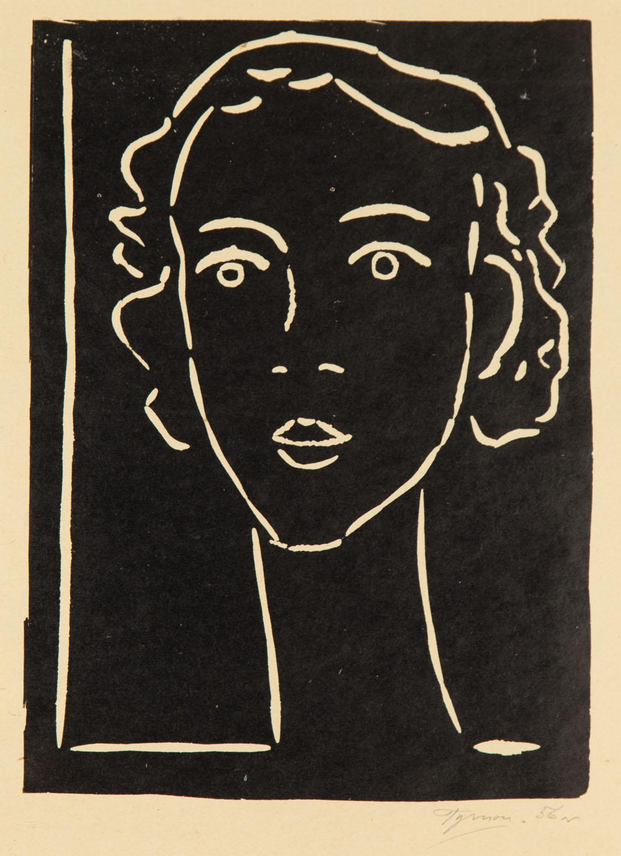 Głowa dziewczyny, 1956