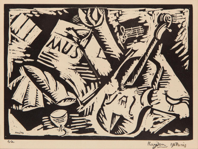 Ilustracja do programu koncertu Ravel-Satie, 1916