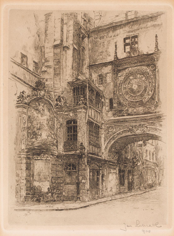 Gros-Horloge (zegar astronomiczny) w Rouen, 1908