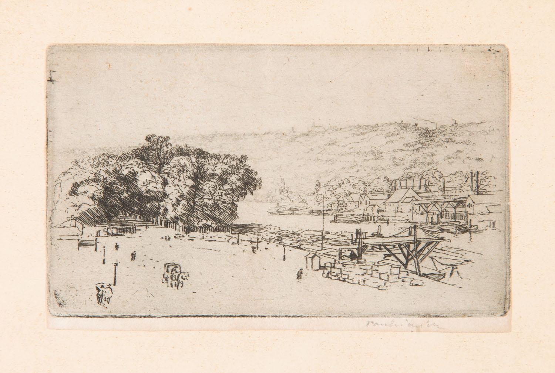 Krajobraz z okolic Rouen z teki Quatorze Eaux Fortes, 1904