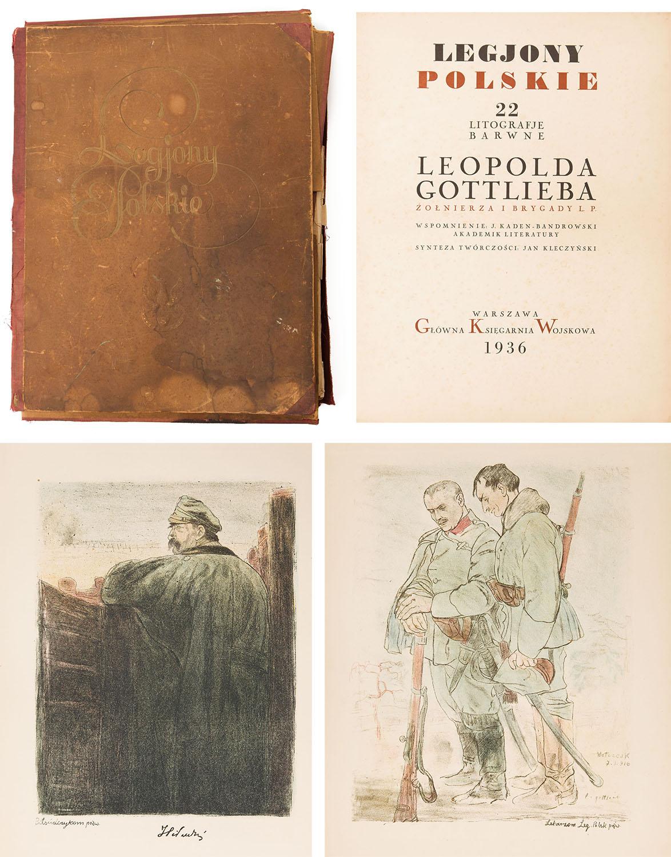 """Legiony polskie. 22 litografje barwne"" (komplet), 1916 (1936)"