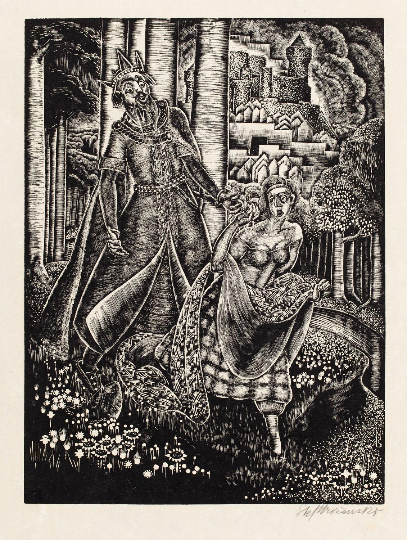 """W ogrodzie z cyklu """"Król w złotej masce"""", 1929"""