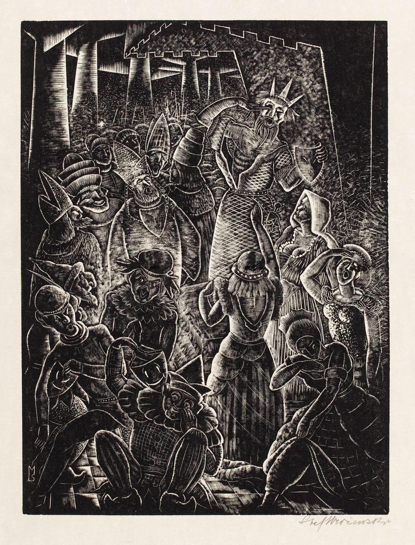 """Król z maską w ręku z cyklu """"Król w złotej masce"""", 1929"""