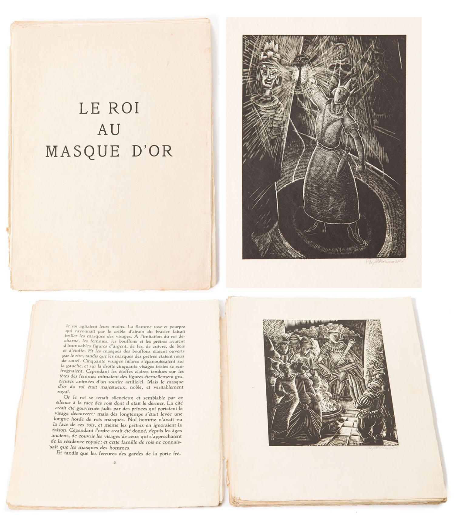 Marcel Schwob, Le Roi au masque d'or z 8 drzeworytami, 1929