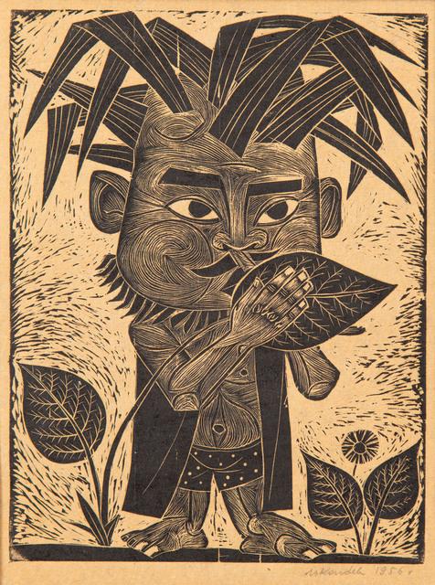 """""""Chłopiec grający na listku"""", 1956"""
