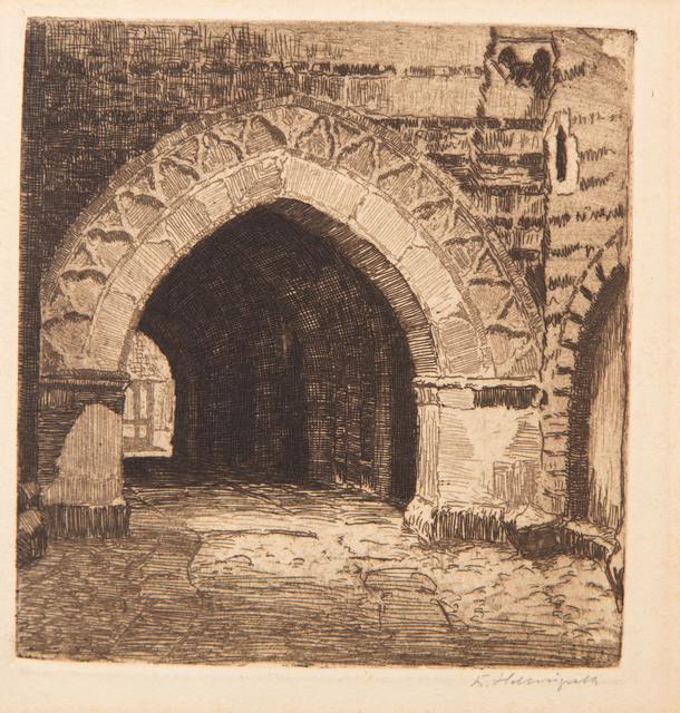 Brama górnego zamku w Malborku, 1875