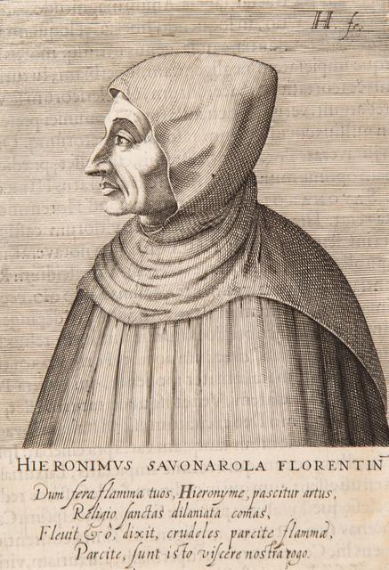 """Portret Savonaroli z """"Icones virorum nostra patrumq. memoria illustrium"""", 1599"""