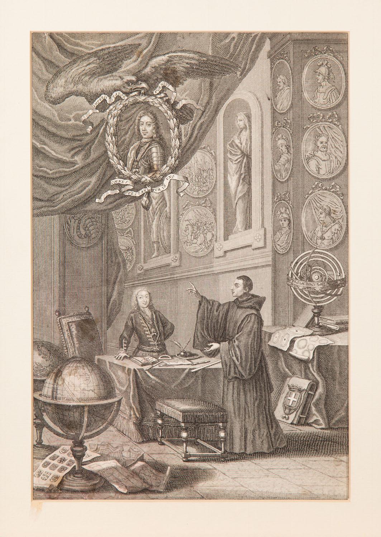 Książe Sabaudzki Eugeniusz z kardynałem Albanim w Rzymie