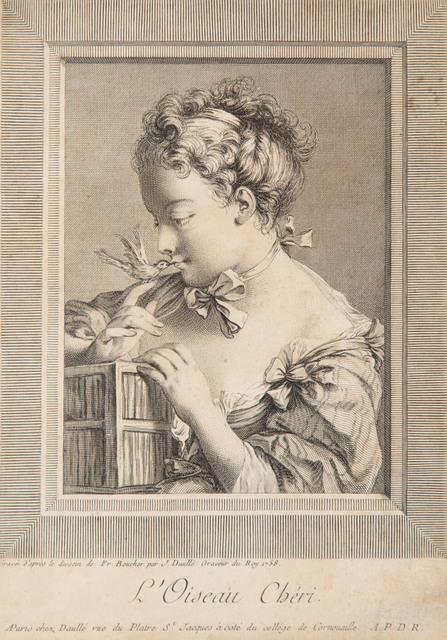 """L'Oiseau Cheri"" wg Bouchera, 1758"