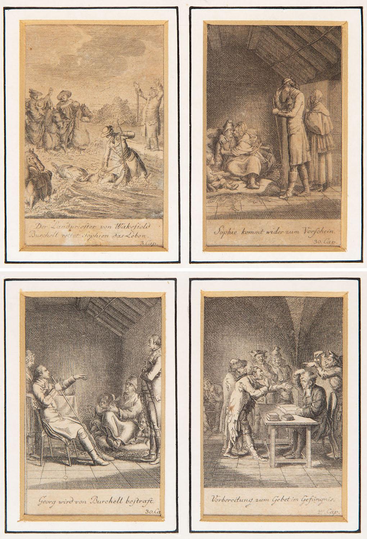 """Ilustracje do """"Wikarego z Wakefield"""" (4 z 12), 1776"""