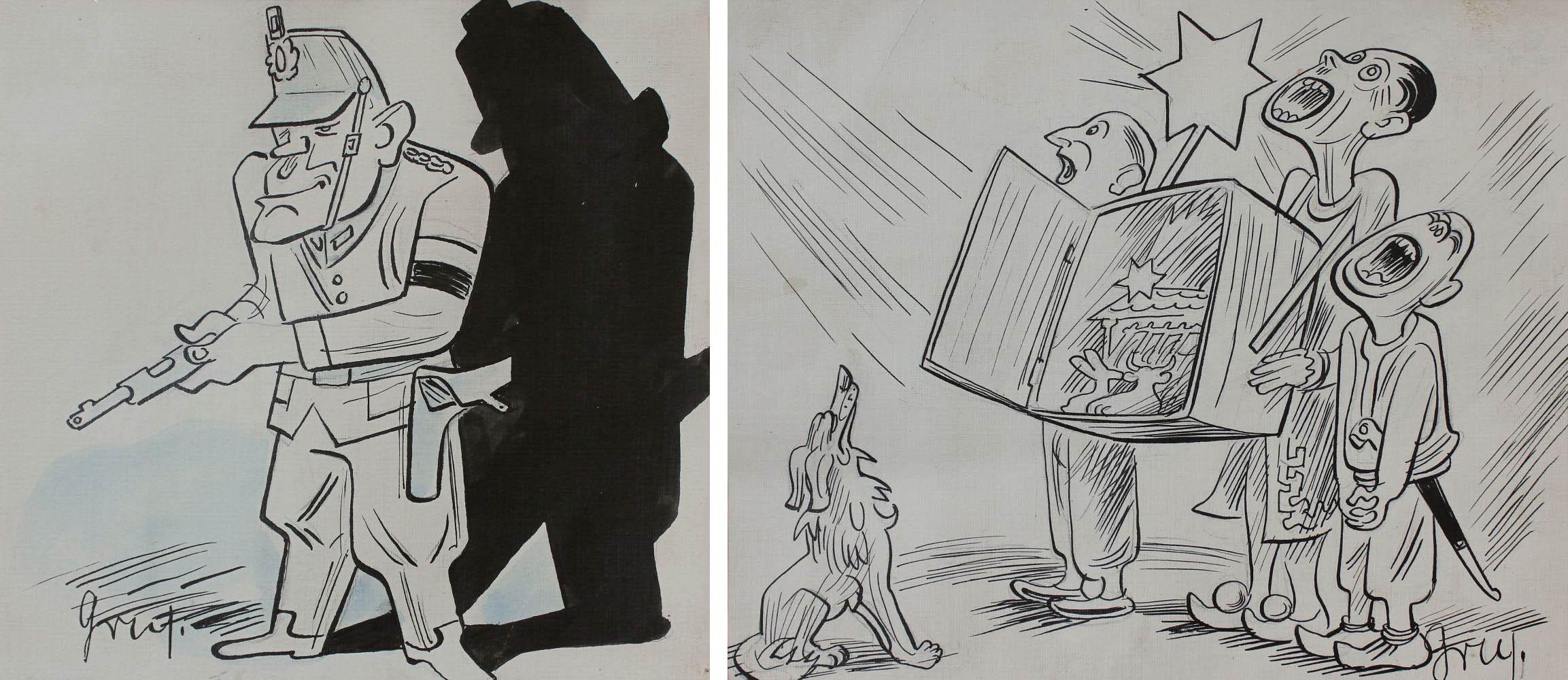 """Ilustracje satyryczne do """"Szpilek"""""""