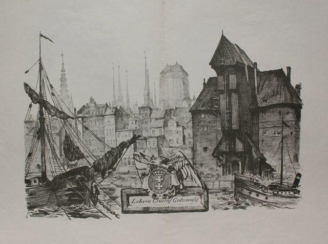 Widok starego Gdańska