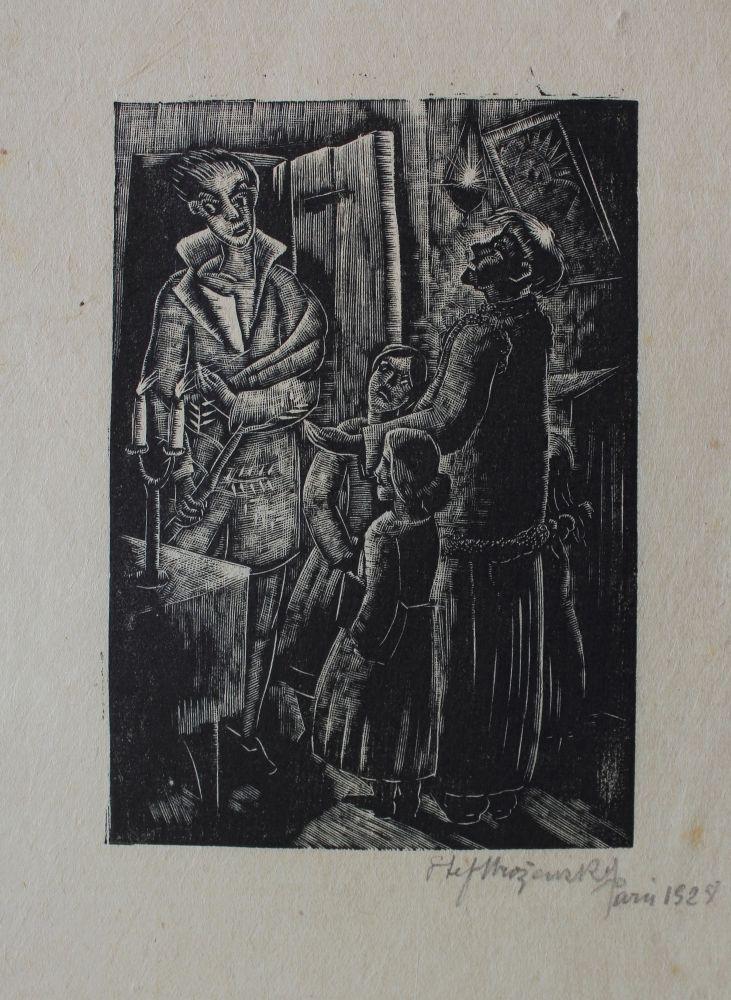 """Widmo (Ilustracja do """"Dziadów"""", 1928)"""