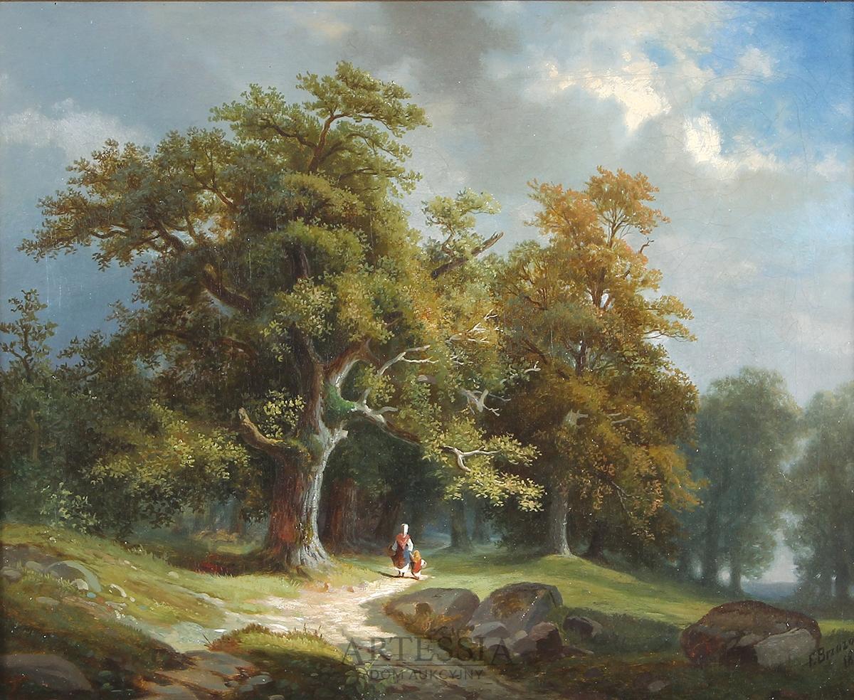 Droga do lasu, 1871
