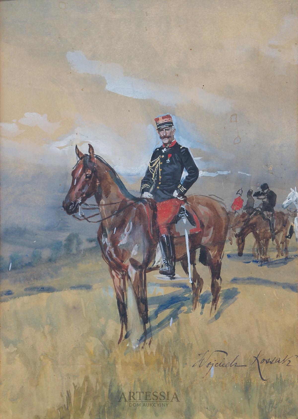 Portret konny hrabiego Foucauld, ok. 1900