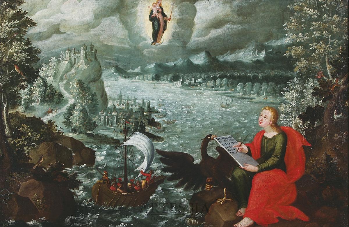 Święty Jan Ewangelista na wyspie Patmos, 1619