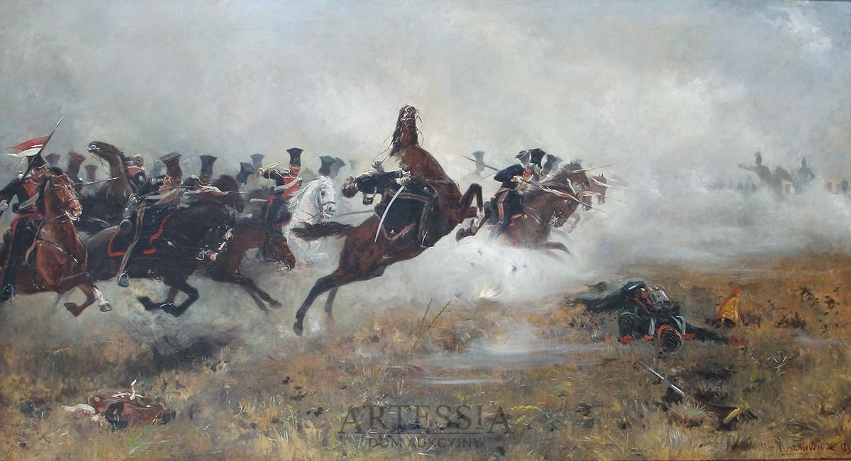 Szarża ułanów Księstwa Warszawskiego pod Borodino, 1893