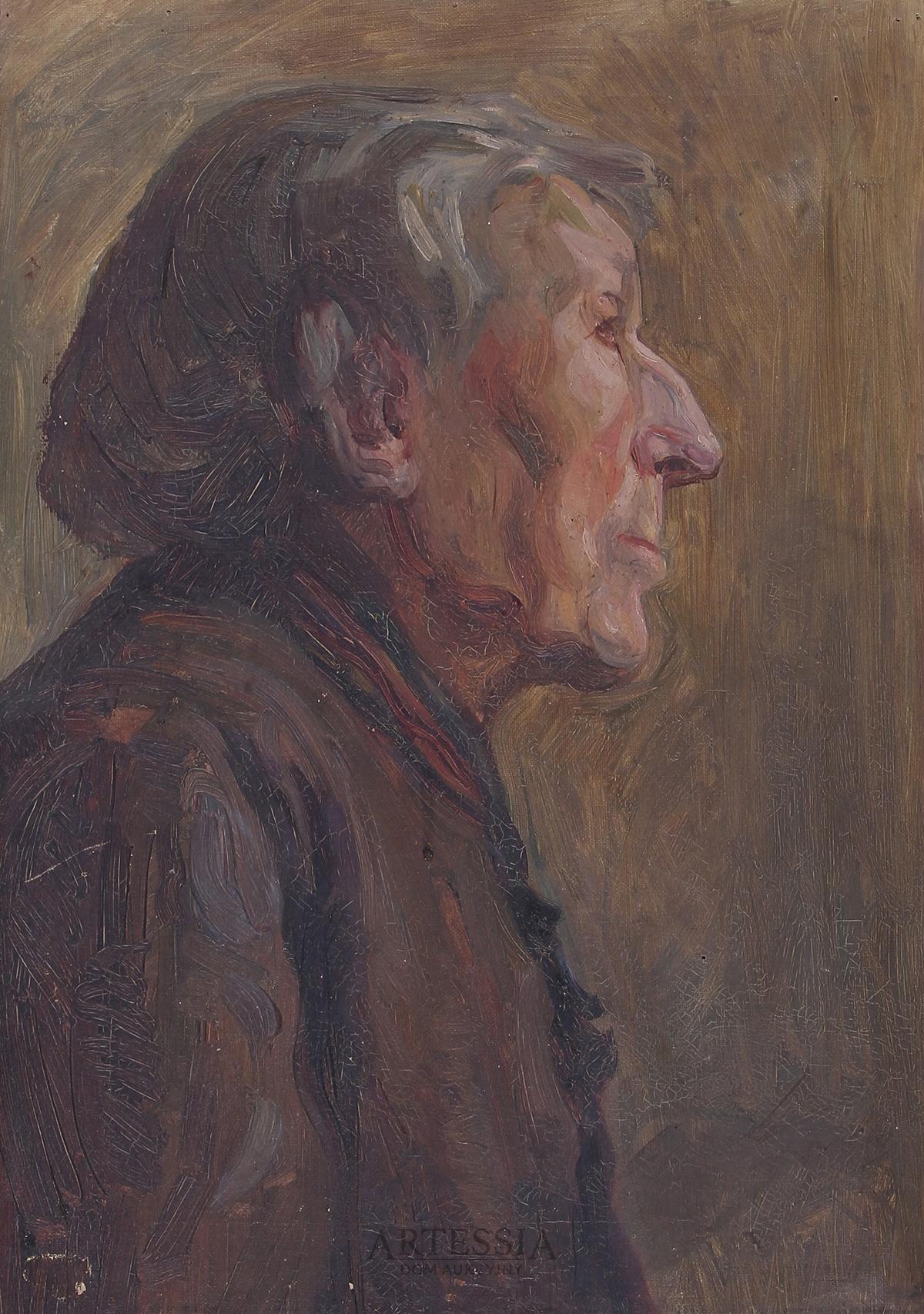 """Studium portretowe """"Głowa dziada"""", 1916"""