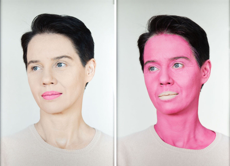 """Negative Make Up, pink"", 2016"