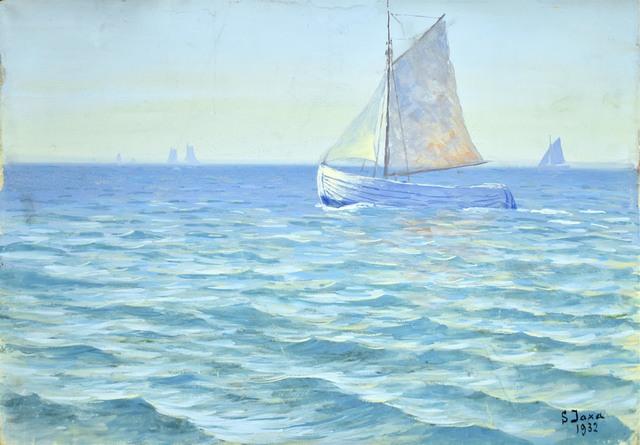 Żaglówka na morzu, 1932