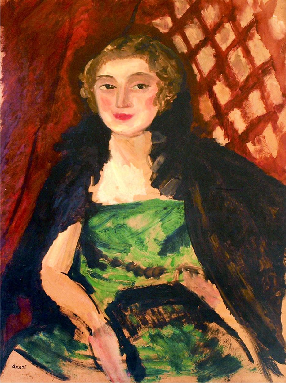 Portret kobiety w zielonej sukni, ok. 1912