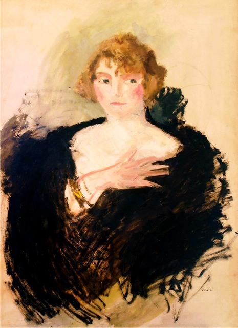 Portret kobiety w czarnej etoli, ok. 1910