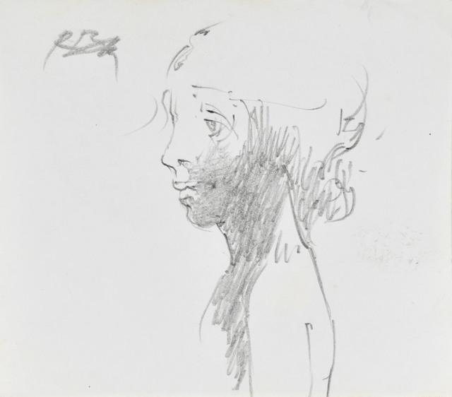 Szkic popiersia kobiety z lewego profilu