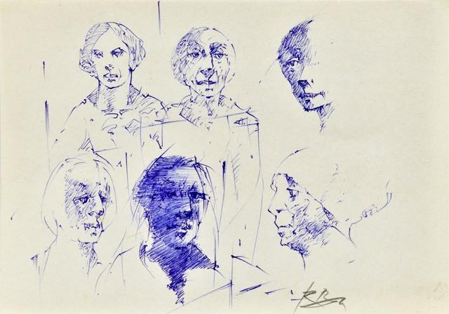 Szkice głów postaci