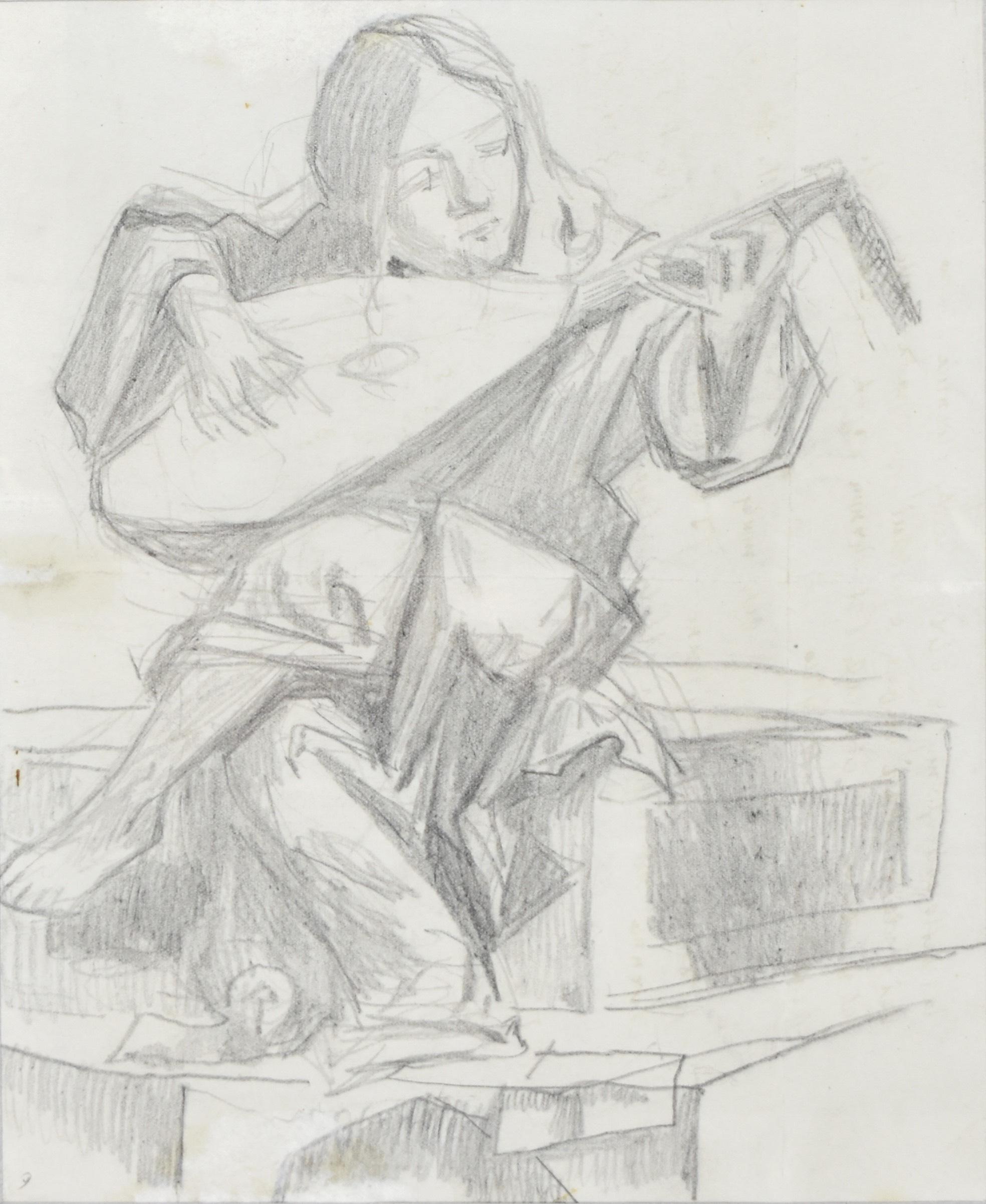 Studium rzeźby Lutnisty, 1896 (?)