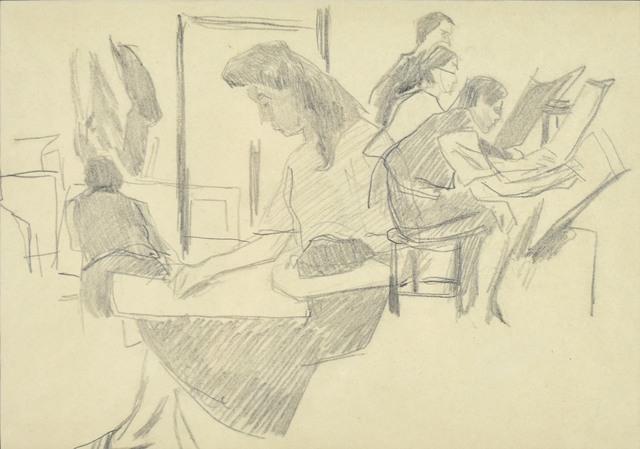 W pracowni – lekcja rysunku, III 1941 (?)