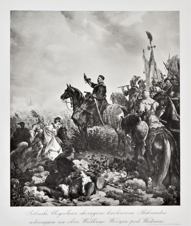 Sobieski błogosławi chorągiew królewicza Aleksandra uderzającą na obóz Wielkiego Wezyra pod Wiedniem