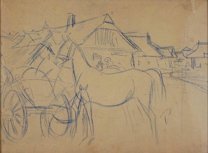 Koń przy wozie