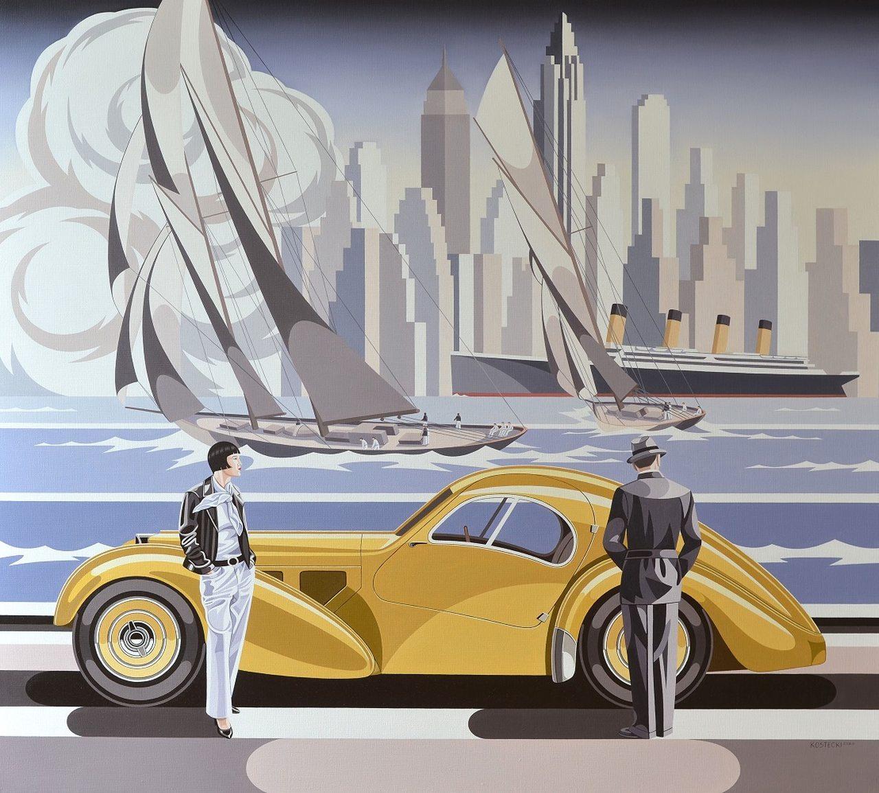 Kobieta i Bugatti, 2020