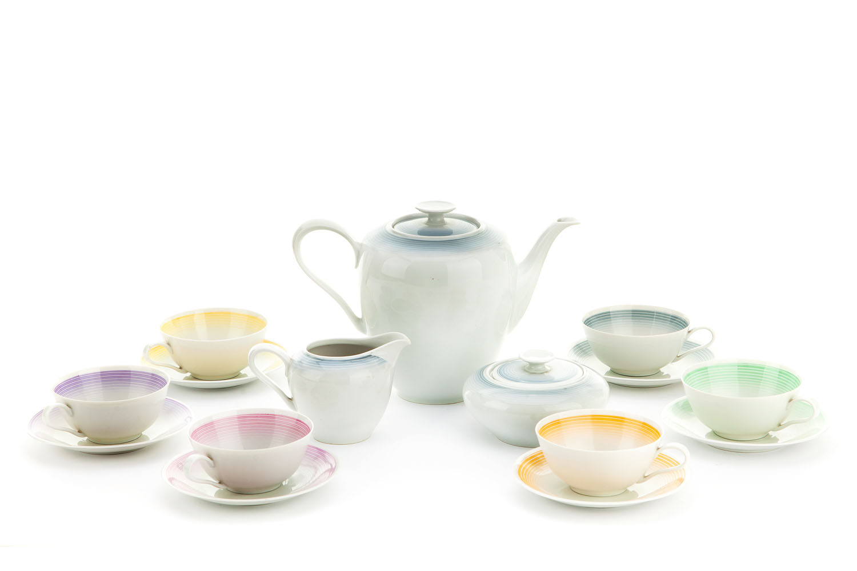 Serwis do herbaty dla 6 osób, okres międzywoje
