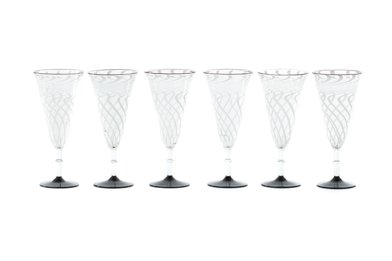 Komplet 6 kieliszków do szampana, lata 30. XX w.