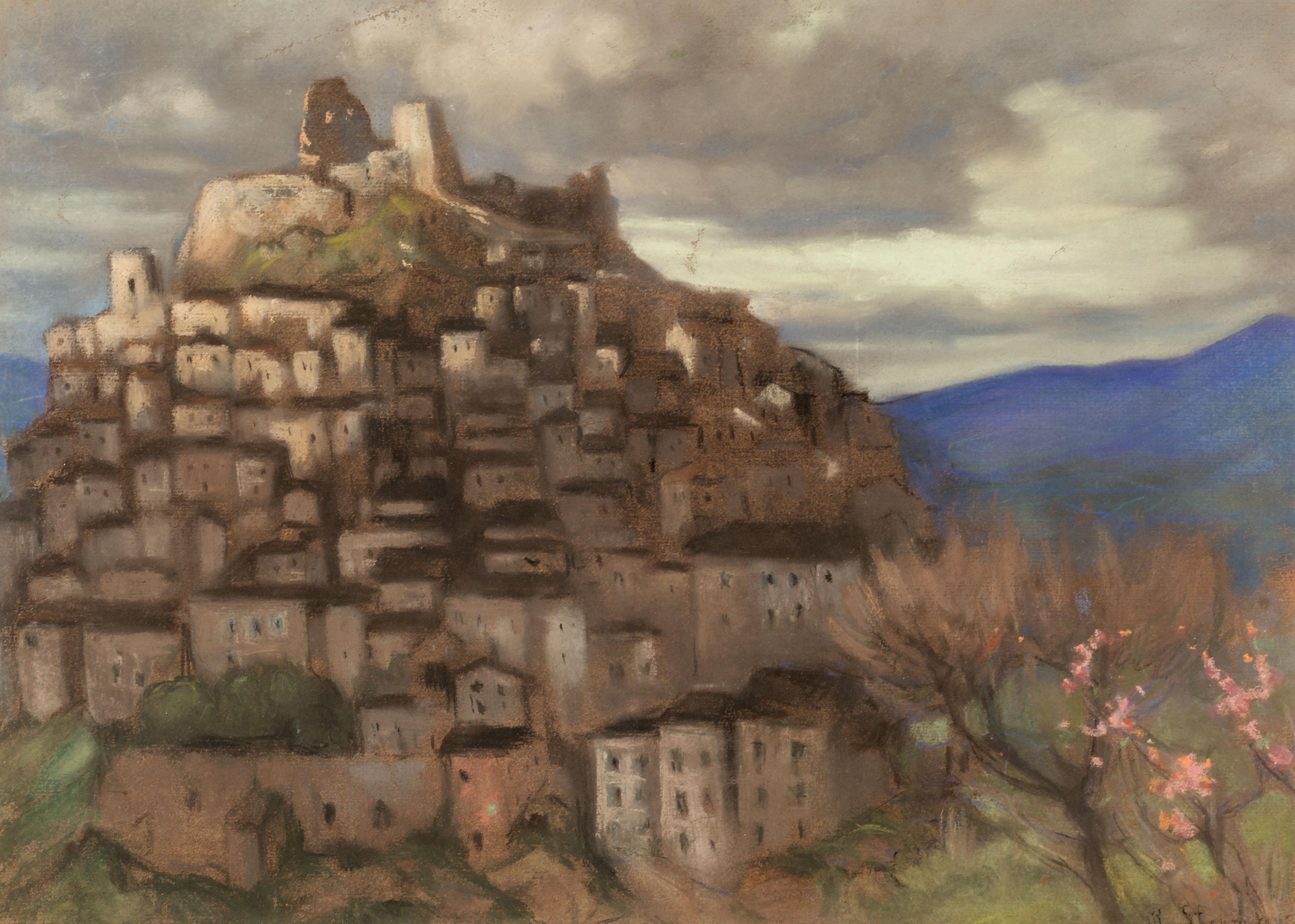miasteczko Rocca Imperiale o zmierzchu