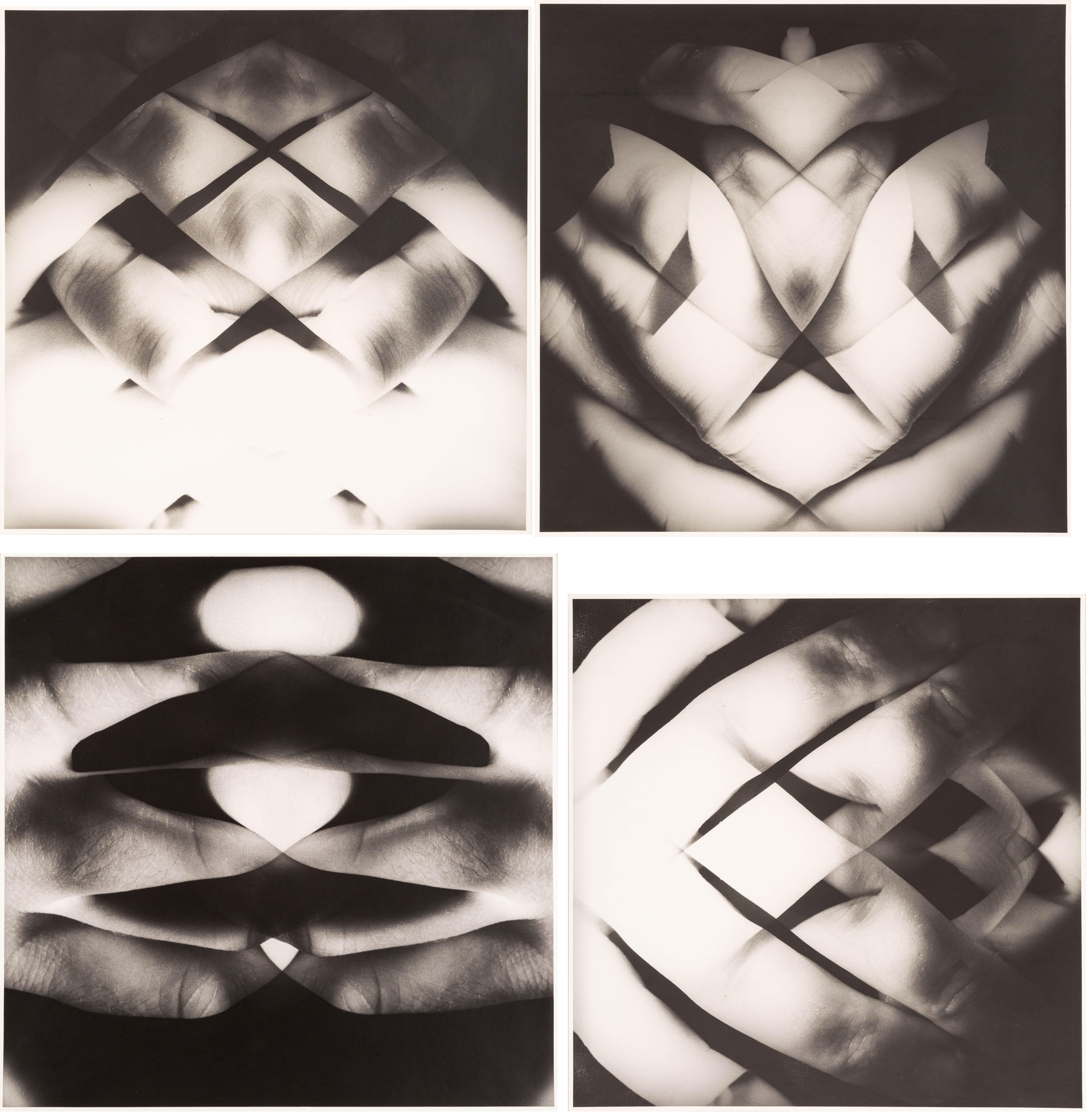 4 fotografie z cyklu Topologie, 1968-1988
