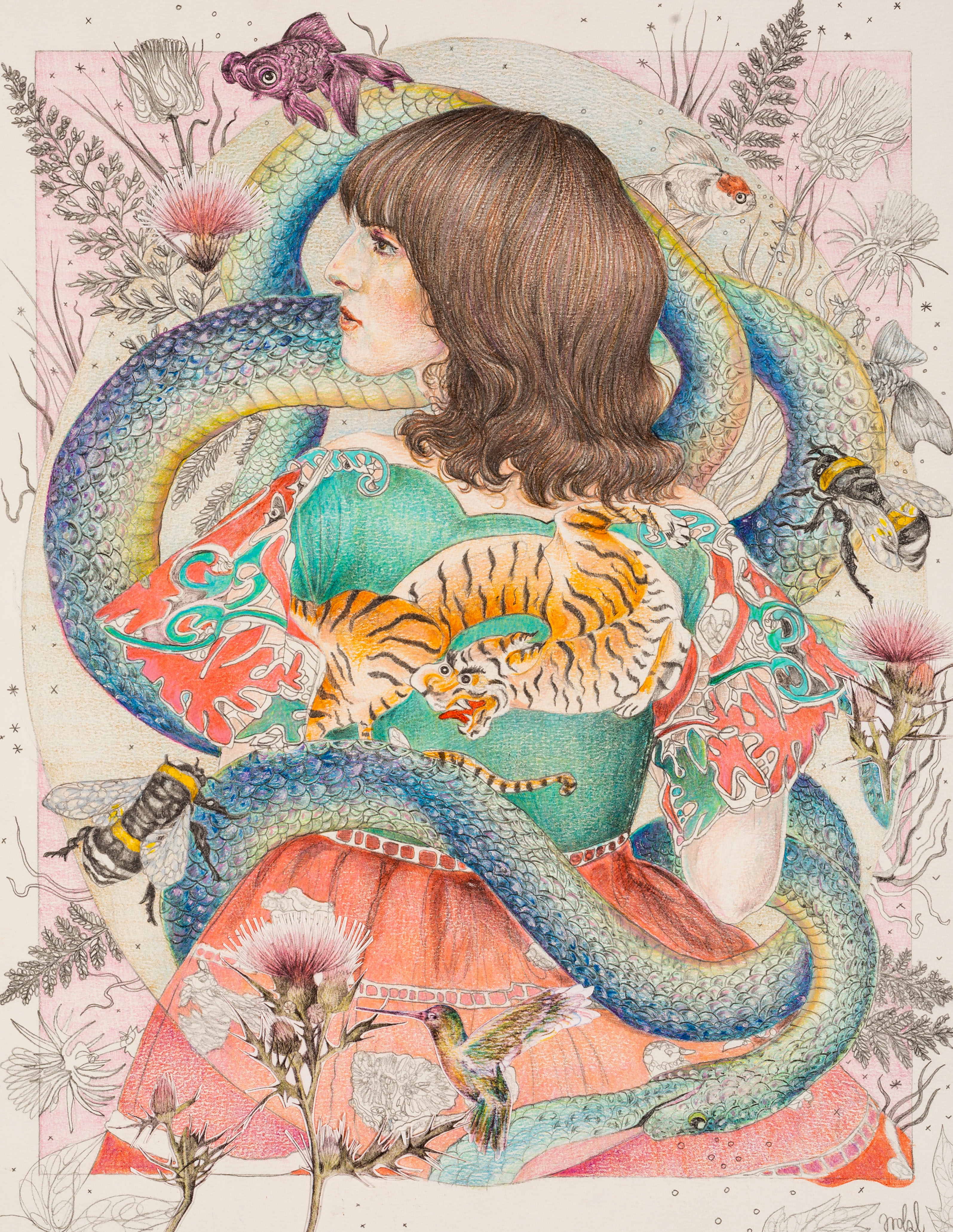 Ilustracja Gucci dla magazynu Unbpublished, wiosna 2016