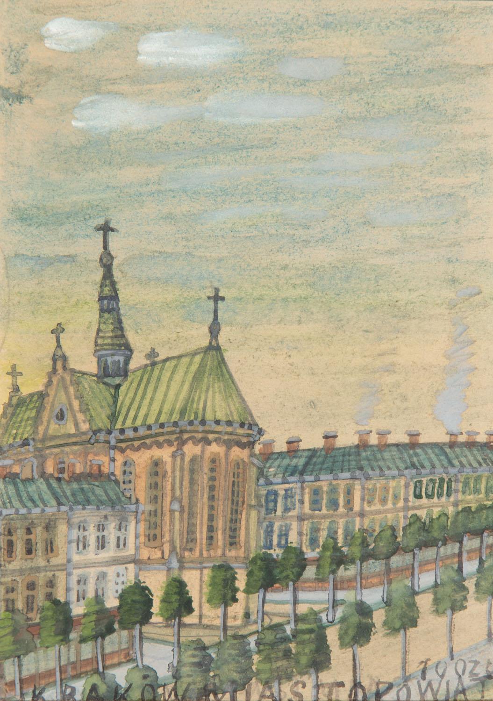 Widok Krakowa, lata 50. XX w.