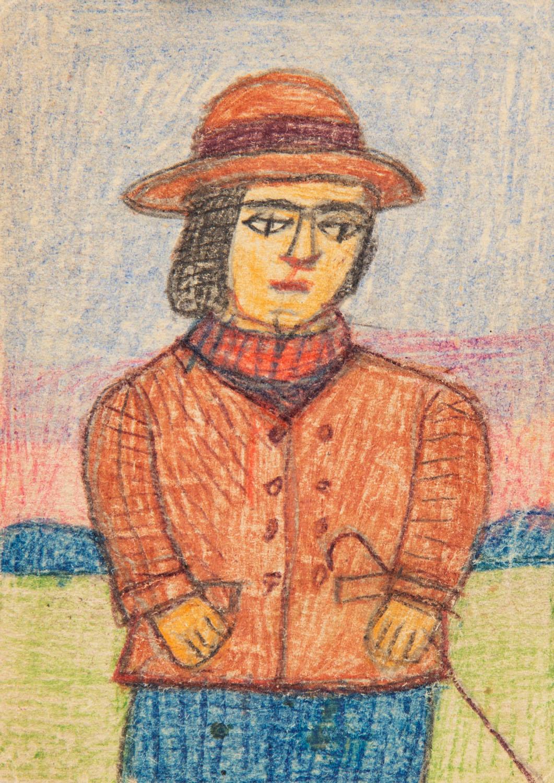 Portret kuracjuszki z laską, lata 60. XX w.