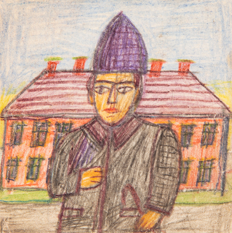 Portret kuracjusza w czapce, lata 60. XX w.